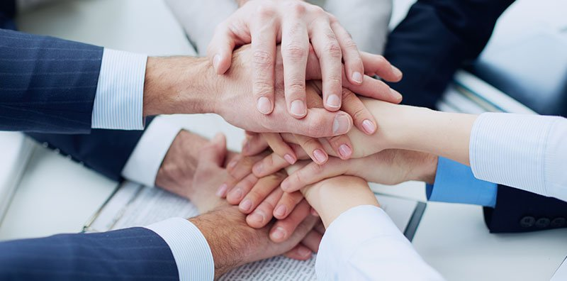 Team hand shake